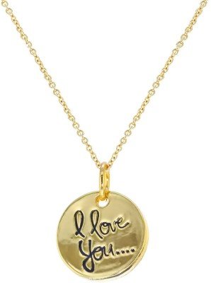 "Senecioâ""¢ ,S I Love You Letter Long Sweater Chain Valentine Gift Yellow Gold Plated Alloy Necklace"