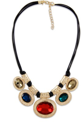 Young & Forever Alloy, Leather Necklace