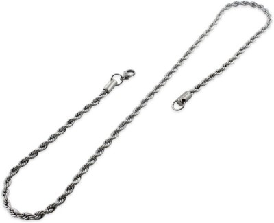 Adarsh Silver Plated Stainless Steel Chain
