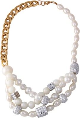 Young & Forever Alloy, Mother of Pearl Necklace