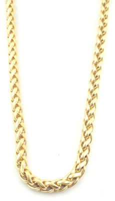 Seeyara twisted curb 22K Yellow Gold Plated Brass Chain