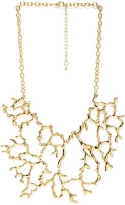 ToniQ ToniQ Elegant Gold Statement Metal Necklace