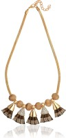 Dress Villa Golden Brown Acrylic, Alloy Necklace best price on Flipkart @ Rs. 499