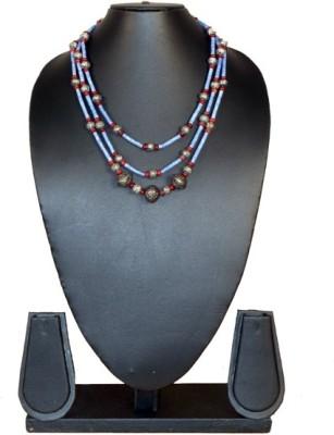 Needle Kraft Beads, Opal Stone Necklace