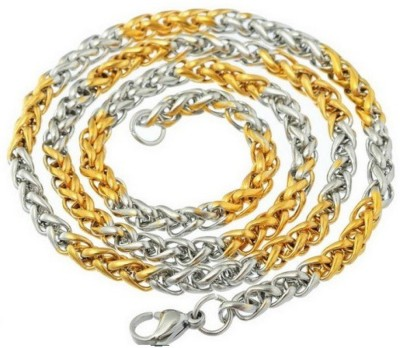 knp enterprise Yellow Gold Plated Brass Chain