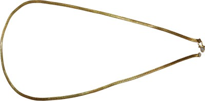 TajSoft Exporters 22K Yellow Gold Plated Copper Chain