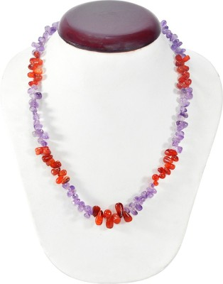 Cosmic 7 Jewellery Carnelian, Amethyst Silk Dori Necklace