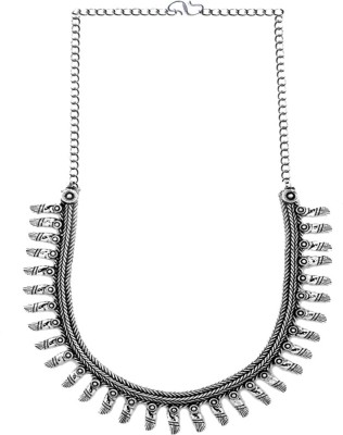 New Creation Sterling Silver Plated Silicone Necklace
