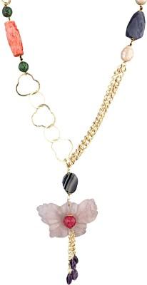 Idiotheory Quartz Brass Necklace