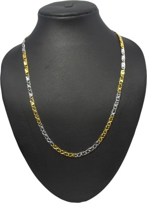 Adarsh Yellow Gold, Rhodium Plated Copper Chain