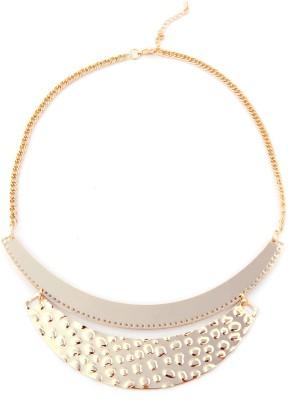 Zahra Jani ZJ Crescent Plates Necklace Metal Chain