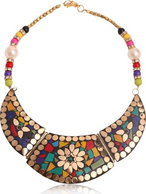 Minha Brass Plated Brass Necklace