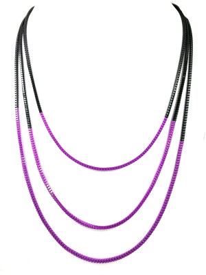 Ammvi Ammvi Creations Purple Passion Three Chain Alloy Necklace Alloy Necklace