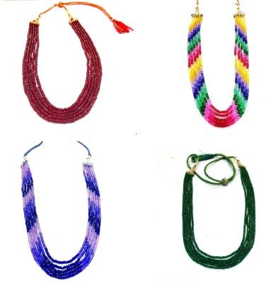 Prakash Jewellers Jade Stone Necklace Set