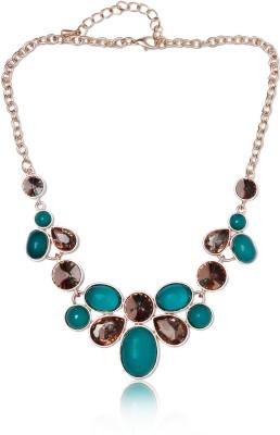 Sparkle Street Metal, Crystal, Resin Necklace at flipkart
