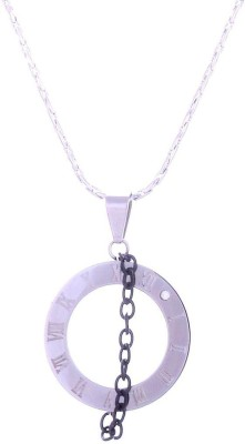 The Jewel Box Time Zone White Gold Stainless Steel Pendant