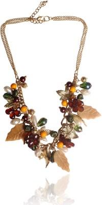 Sparkle Street Metal, Resin Necklace at flipkart