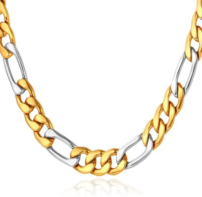 Spangel Fashion 18K Yellow Gold Plated Brass Chain