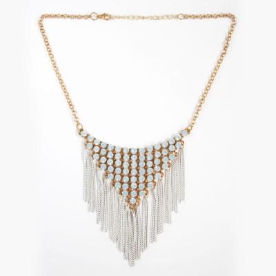 Zahra Jani ZJ Triangular Tassel Necklace Metal Chain