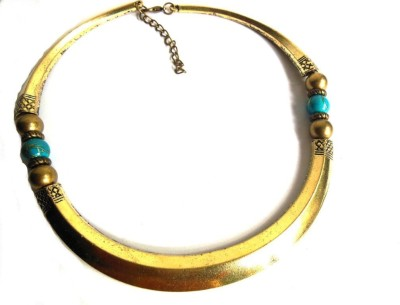 Bohocraft Bohemian Beautiful Turquoise Gold Trendy Alloy Choker