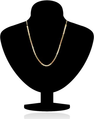 Donna Diamond Drops Crystal Yellow Gold Plated Alloy Chain
