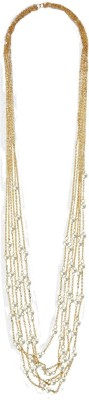 Simaya FN 0522 Yellow Gold Plated Alloy Necklace at flipkart