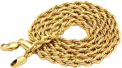 Spangel enterprise Yellow Gold Plated Brass Chain