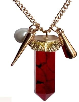 Gajraula Crafts Red Pencil Alloy Necklace