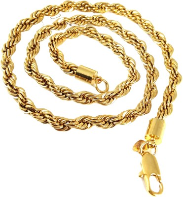 Ammvi 17.3,, Rope Pattern Sleek for Men Brass Chain