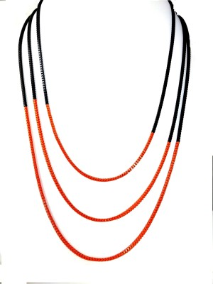 Ammvi Ammvi Creations Serene Saffron Necklace for Women Alloy Necklace