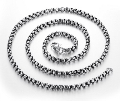 Adarsh Platinum Plated Stainless Steel Chain