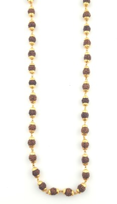 Seeyara rudraksh mala 21K Yellow Gold Plated Brass Chain at flipkart