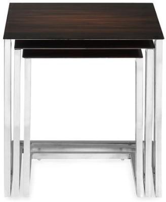 Nilkamal Nest 01 Engineered Wood Nesting Table(Finish Color - Brown, Set of - 3)
