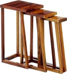 Ringabell Thick Solid Wood Nesting Table...