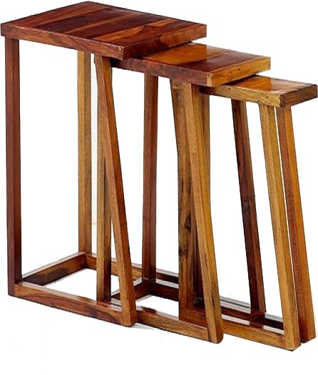 Ringabell Thick Solid Wood Nesting Table