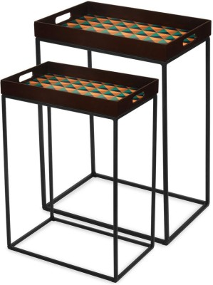 @home by Nilkamal Tryst Metal Nesting Table(Finish Color - NA, Set of - 2)