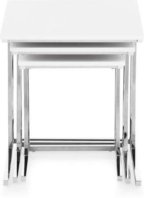 @home by Nilkamal Metal Nesting Table(Finish Color - Chrome Plated, Set of - 3)