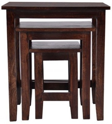 Indian Hub Solid Wood Nesting Table