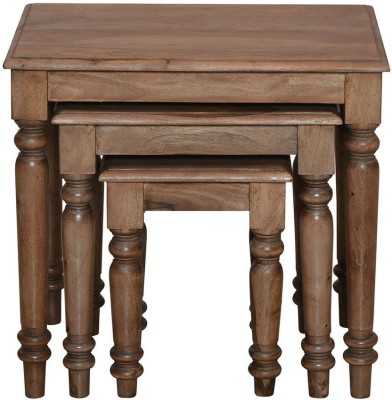 @home by Nilkamal Arena Solid Wood Nesting Table