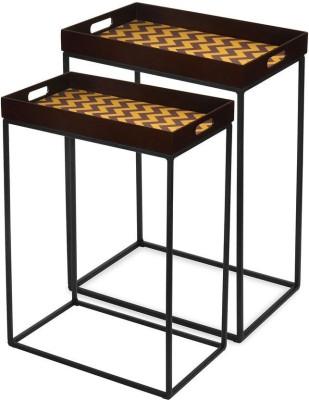 @home by Nilkamal Chevron Metal Nesting Table(Finish Color - NA, Set of - 2)
