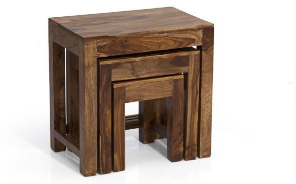 View Home Edge Solid Wood Nesting Table(Finish Color - PROVINCIAL TEAK, Set of - 3) Furniture (Home Edge)