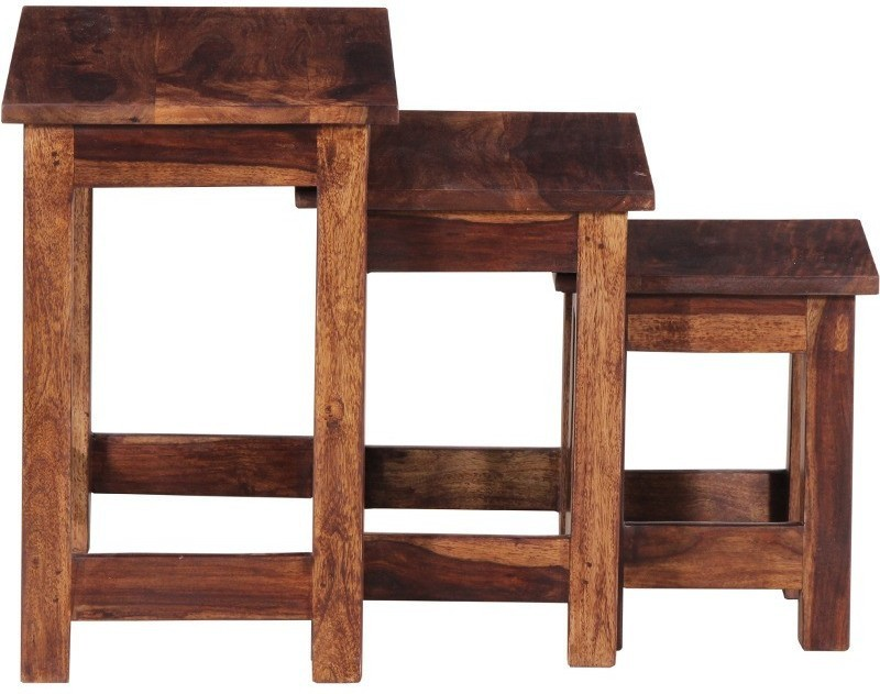 Ringabell Crony Solid Wood Nesting Table(Finish Color - Teak, Set of - 3)