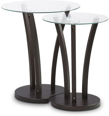 @home by Nilkamal Viola Solid Wood Nesting Table(Finish Color - Wenge, Set of - 2)