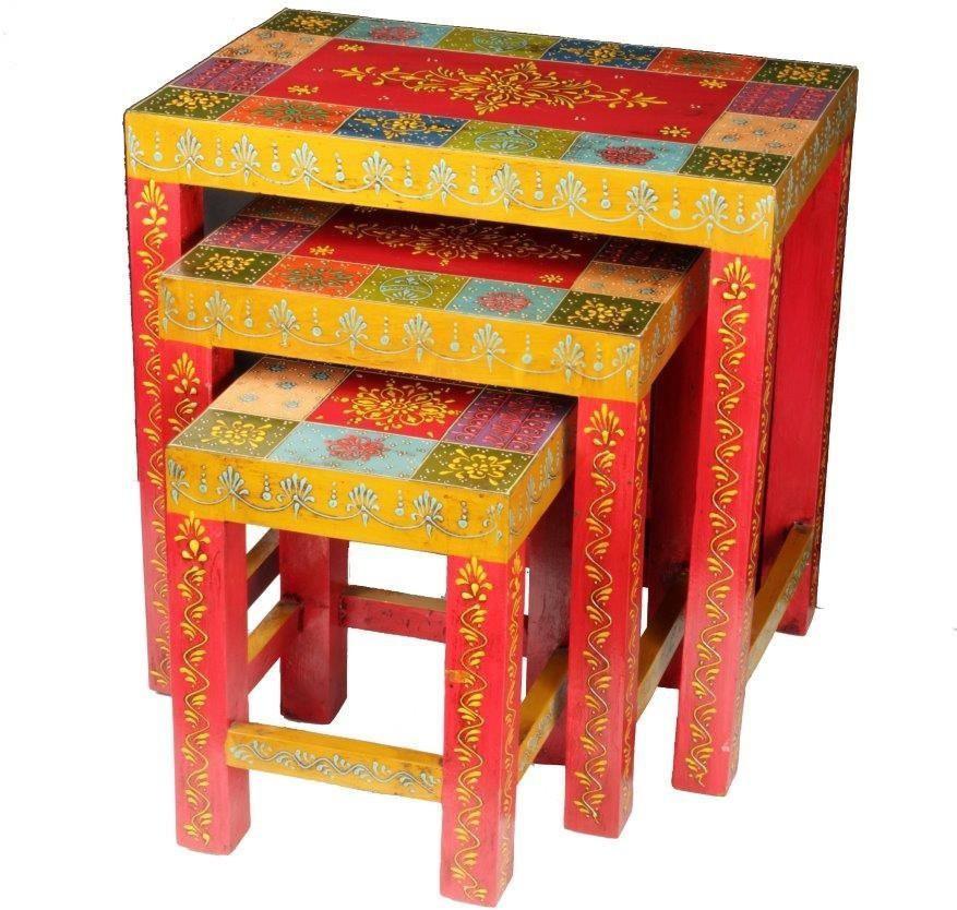 View Shri Krishna Engineered Wood Nesting Table(Finish Color - MULTICOLOUR, Set of - 3) Furniture (Shri Krishna)
