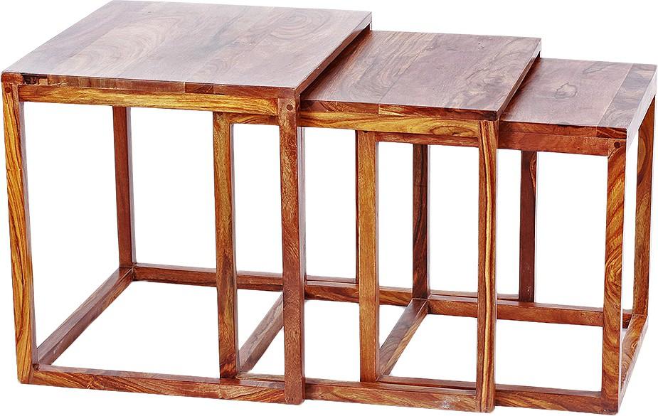 View Orange Tree Solid Wood Nesting Table(Finish Color - Natural, Set of - 1) Furniture (Orange Tree)