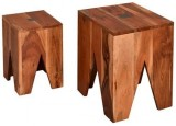 Indian Hub Solid Wood Nesting Table (Fin...