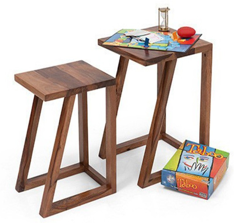 Ringabell Solid Wood Nesting Table(Finish Color - Mahogany & Teak, Set of - 2)