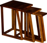 Handiana Solid Wood Nesting Table (Finis...