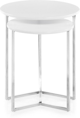 @home by Nilkamal Metal Nesting Table(Finish Color - Chrome Plated, Set of - 2)
