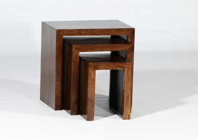 Adroit Furnish Solid Wood Nesting Table